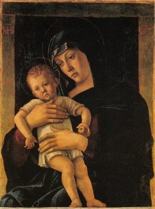 "Giovanni Belini, ""Greek"" Madonna, 1460s. Milan, Brera"